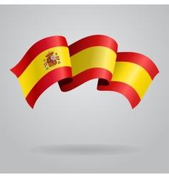 Spanish waving Flag vector