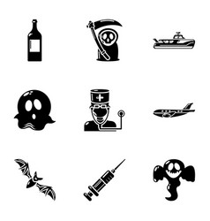Spook icons set simple style vector