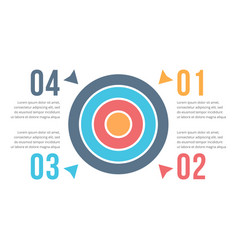 target infographics vector image