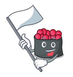 with flag ikura mascot cartoon style vector image