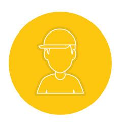 Worker with helmet avatar vector