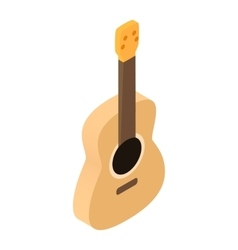 Acoustic guitar isometric 3d icon vector image vector image