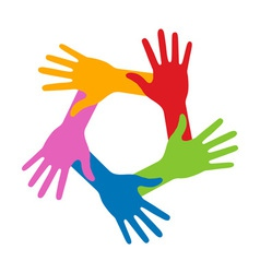 Colorful Five Hands Icon for your design vector image