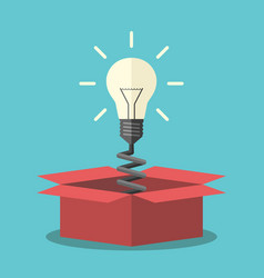 light bulb from box vector image vector image