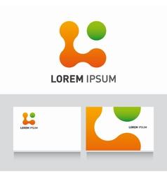 logo company card organic vector image