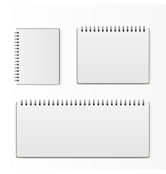 Set of blank realistic spiral notepad notebook vector image vector image