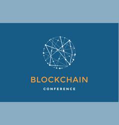 template emblem for blockchain technology vector image