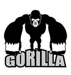 Angry gorilla Aggressive big monkey irritated wild vector image