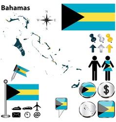 Bahamas map vector image vector image
