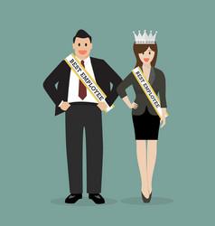 best employee of company vector image vector image