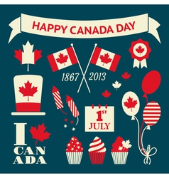 Canada Day Design Elements Collection vector image vector image