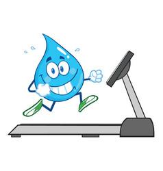 healthy water drop cartoon character vector image vector image