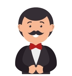 husband character with married suit vector image vector image