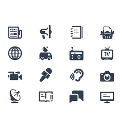 Journalism icons vector image