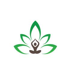 meditation or spa leaf logo image vector image