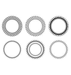 set of round frames vector image
