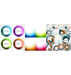 swirl and wave background set vector image vector image