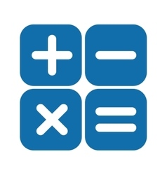 arithmetic signs box vector image