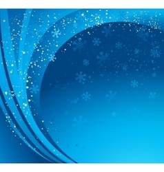 Blue winter abstract background vector image vector image