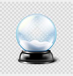 christmas snow globe isolated vector image