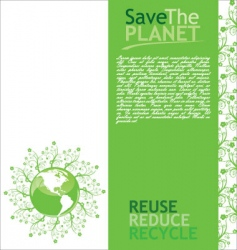 ecology globe background vector image vector image