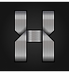 Letter metal chrome ribbon - X vector image vector image