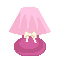 Pink colored lamp vector