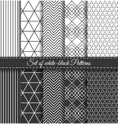 Set of black white Pattern2 vector image vector image