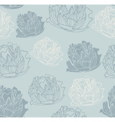 vintage peony pattern vector image