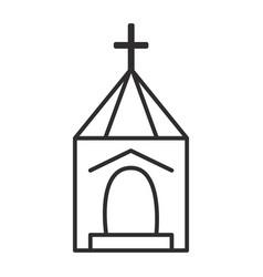 church wedding line icon sign vector image