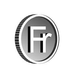 Currency of Switzerland franc icon simple style vector image