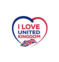 i love united kingdom vector image