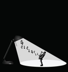 lamp musician vector image