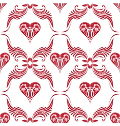 Pattern Heart Ornamental vector image