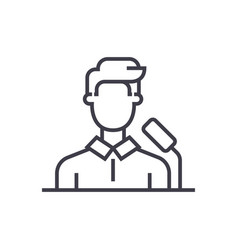 speakerbusiness presentation line icon vector image