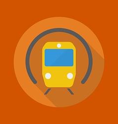Transportation Flat Icon Subway vector image vector image