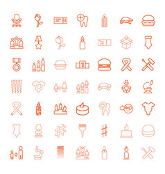 49 one icons vector image