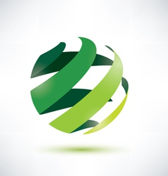 Abctract green globe icon ecology and nature conce vector