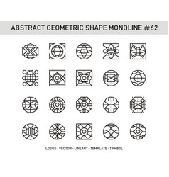Abstract geometric shape monoline 62 vector