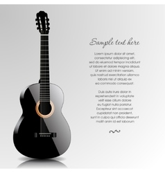 Abstract music background with guitar vector