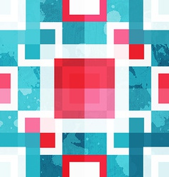 abstract squares seamless texture with grunge vector image