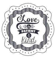 Attitude phrase about love inside frame design vector image