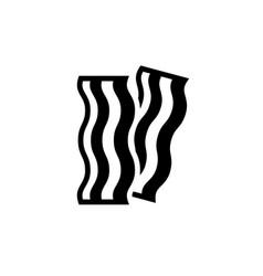 bacon stripe black icon on white background vector image