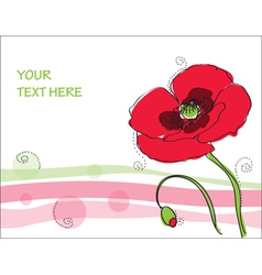 Beautiful poppy flower vector