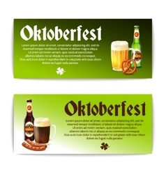 Beer Banner Horizontal Set vector image