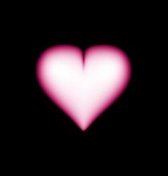 big red heart on dark background vector image