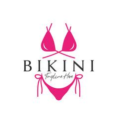 Bikini clothing fashion inspiration logo vector