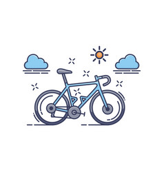 Blue bicycle icon vector