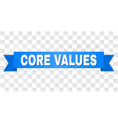 Blue stripe with core values title vector