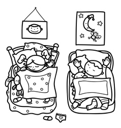 boy girl vector image